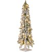 National Tree Co. 4' White Downswept Artificial Christmas Tree with 100 Colored & Clear Lights