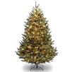 National Tree Co. Natural Fraser 7.5' Green Medium Fir Artificial Christmas Tree with 1000 Clear Lights