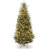 National Tree Co. 7.5' Natural Fraser Slim Fir Hinged Tree with 600 Clear Lights