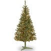 National Tree Co. Canadian Fir 6' Green Wrapped Artificial Christmas Tree with 200 Clear Lights