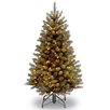 National Tree Co. North Valley Spruce 4.5' Green Artificial Christmas Tree with 200 Clear Lights and Stand