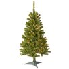 National Tree Co. Canadian Fir 4' Green Wrapped Artificial Christmas Tree with 100 Clear Lights