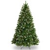 National Tree Co. Crystal 7.5' Green Spruce Hinged Artificial Christmas Tree with 450 Clear Lights