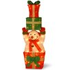 National Tree Co. Decorative Décor Pre-Lit Snowman Holding Gifts Christmas Decoration