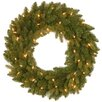National Tree Co. Avalon Feel Real® Spruce Wreath with 50 Clear Lights