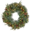 National Tree Co. Colonial Pre-Lit Feel-Real Colonial Wreath with 50 Clear Lights