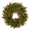 National Tree Co. Fraser Pre-Lit Feel-Real Grande Wreath with Clear Lights