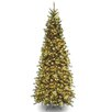 National Tree Co. Tiffany Fir 9' Green Slim Artificial Christmas Tree with 700 Pre-Lit Clear Lights with Stand