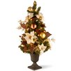 National Tree Co. 3' Green Pine Artificial Christmas Tree with 50 Pre-Lit Clear Lights with Urn Base