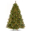 National Tree Co. Winchester Pine 7.5' Green Artificial Christmas Tree with 500 Multi Colored Lights and Stand