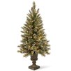 National Tree Co. Glittery Bristle Pine 4' Green Artificial Christmas Tree with 100 Clear Lights