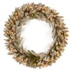 National Tree Co. Snowy Concolor Fir Lighted Pre-Lit Wreath with 150 Clear Lights