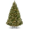 National Tree Co. Wispy Willow 7.5' Green Artificial Christmas Tree with 750 Clear Lights and Stand