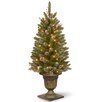 National Tree Co. Glittery Mountain 4' Green Spruce Artificial Christmas Tree with 70 Colored & Clear Lights