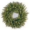 National Tree Co. Dunhill Fir Pre-Lit Wreath with 50 Clear Lights
