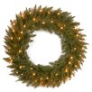 "National Tree Co. Dunhill Fir Pre-Lit 30"" Wreath with 50 Clear Lights"