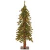 National Tree Co. Hickory Cedar 3' Green Artificial Christmas Tree with 50 Clear Lights