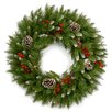 """National Tree Co. 24"""" Frosted Berry Wreath"""
