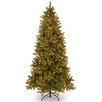 """National Tree Co. Downswept Douglas Fir 7.5"""" Green Slim Fir Artificial Christmas Tree with 600 Pre-Lit Clear Lights with Stand"""
