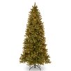 "National Tree Co. Downswept Douglas 9"" Green Fir Artificial Christmas Tree with 800 Clear Lights and Stand"