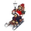 National Tree Co. Plush Décor Plush Sleigh with Bears and Lantern