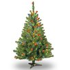 National Tree Co. Kincaid Spruce 4' Green Artificial Christmas Tree with 100 Colored & Multi Color Lights