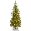 "National Tree Co. Kingswood 4.5"" Pencil Fir Artificial Christmas Tree with Clear Lights"
