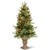 National Tree Co. Colonial 4' Green Artificial Christmas Tree with 100 Clear Lights with Pot
