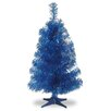 """National Tree Co. Tinsel Trees 3"""" Blue Artificial Christmas Tree and Stand"""