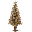 National Tree Co. Liberty Pine 4' Green Artificial Christmas Tree with 100 Clear Lights with Pot