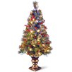 """National Tree Co. Fiber Optics Crestwood 4"""" Spruce Artificial Christmas Tree with 50 Clear LED Lights with Urn Base"""