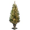 National Tree Co. Wispy Willow 5' Green Artificial Christmas Tree with 100 Clear Lights with Urn Base