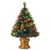 "National Tree Co. Fiber Optics 3"" Green Firework Artificial Christmas Tree with 50 LED Multi Lights and Stand"