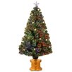 National Tree Co. 4' Fiber Optics Green Firework Artificial Christmas Tree with Multicolored Lights