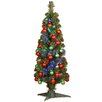 "National Tree Co. Fiber Optics 3"" Green Firework Artificial Christmas Tree with LED Multi Light and Stand"