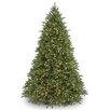 National Tree Co. Jersey Fraser Fir 9' Green Artificial Christmas Tree with 1500 Clear Lights and Stand
