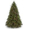 National Tree Co. Jersey Fraser Fir 7.5' Green Artificial Christmas Tree with 1250 Multi Lights and Stand