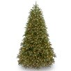 National Tree Co. Jersey Fraser Fir 7.5' Green Fir Artificial Christmas Tree with 1000 Clear Lights and Stand