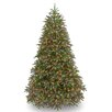 National Tree Co. Jersey Fraser Fir 7.5' Green Fir Artificial Christmas Tree with 1000 Multi Lights and Stand