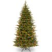 National Tree Co. Nordic 7.5' Green Spruce Artificial Christmas Tree with 600 LED Lights and Stand