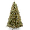 """National Tree Co. Downswept Douglas 9"""" Green Fir Artificial Hinged Christmas Tree with 900 LED Multi Lights and Stand"""