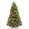 "National Tree Co. Downswept Douglas 10"" Green Fir Artificial Christmas Tree with 1000 LED Multi Lights and Stand"