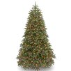 National Tree Co. Jersey Fraser Fir 7.5' Green Artificial Christmas Tree with 1000 LED Multi Lights and Stand