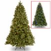 "National Tree Co. Douglas ""Feel Real"" Down Swept 7.5' Hinged Green Fir Artificial Christmas Tree and 750 Dual LED with Stand"