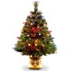 "National Tree Co. Fiber Optics 4"" Green Artificial Christmas Tree with LED Multi Light and Stand"