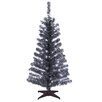 National Tree Co. Tinsel Trees 4' Black Artificial Christmas Tree with Plastic Stand