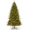 National Tree Co. 7.5' Green Spruce Artificial Christmas Tree with 550 Incandescent Colored and Clear Lights with Stand