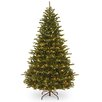 National Tree Co. 7.5' Green Fir Tree Artificial Christmas with 750 Incandescent Colored and Clear Lights with Stand
