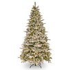 National Tree Co. 7.5' Green and White Fir Artificial Christmas Tree with 450 Incandescent Clear Lights with Stand
