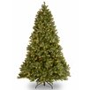 """National Tree Co. Downswept Douglas 90"""" Green Fir Artificial Christmas Tree with 750 Incandescent Colored and Clear Lights"""